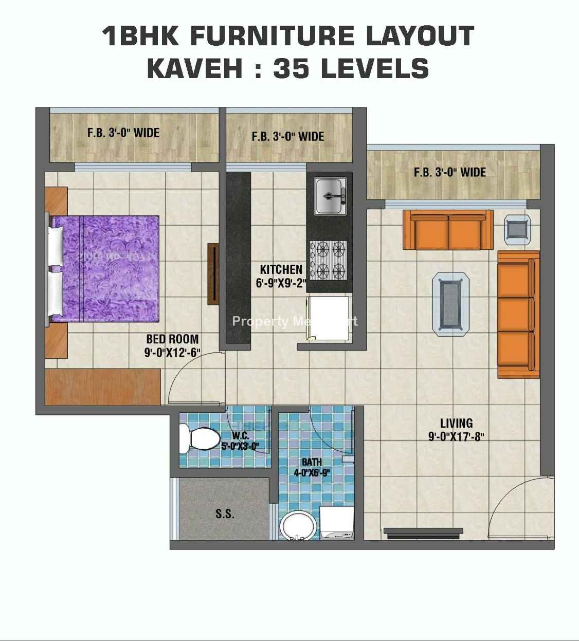 Arihant Clan Aalishan1 BHK Floorplan