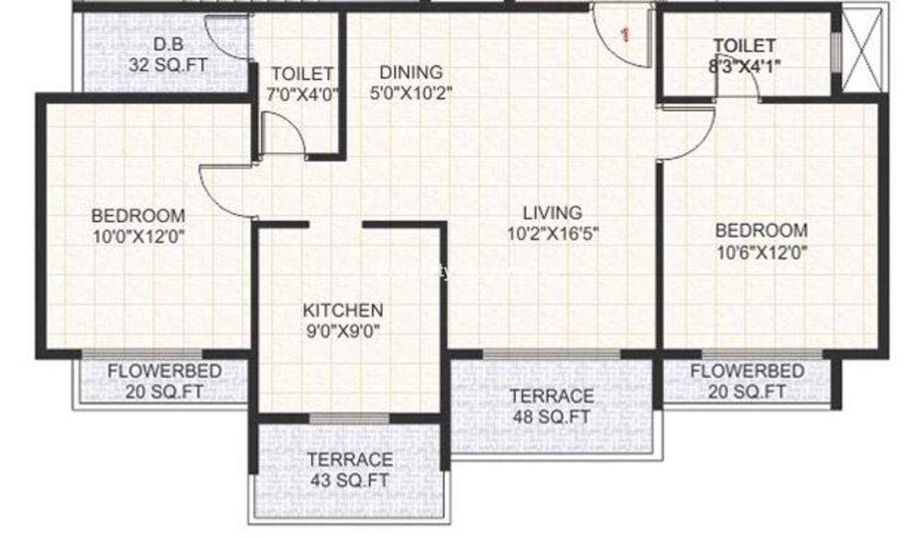 Reliable Balaji Kripa2 BHK Floorplan