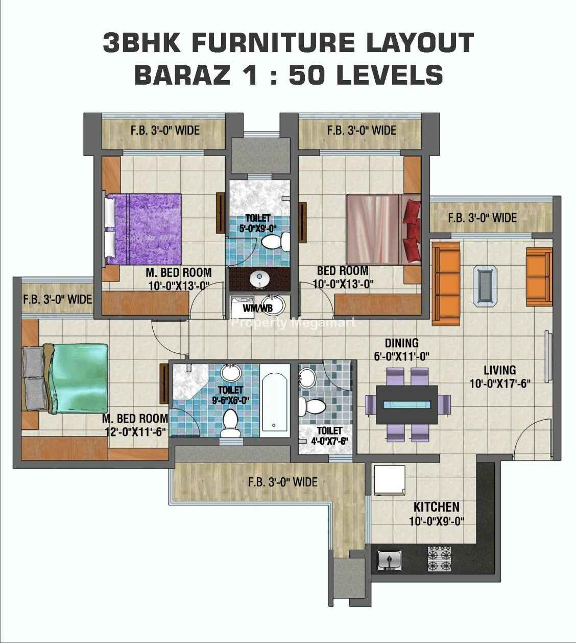 Arihant Clan Aalishan3 BHK Floorplan